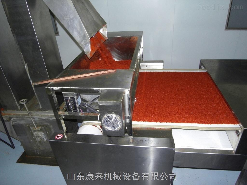 辣椒碎辣椒段烘干设备选微波设备加工
