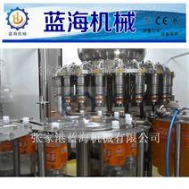 全自動瓶裝果汁飲料三合一灌裝生產線