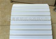 白色PU输送带加防跑偏导向条,导条输送带